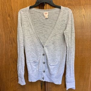 Mossimo Gray burnout boyfriend cardigan Sz Small